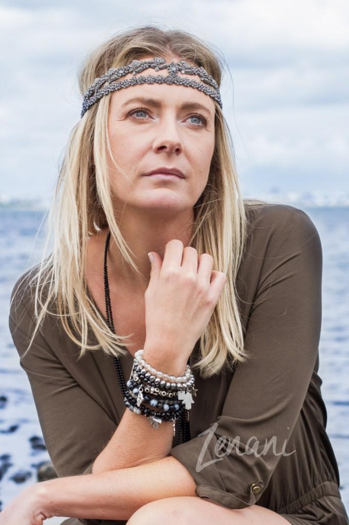 woman portrait, bohemian jewellery fashion, jewellery on the beach, mai copenhagen, zenani