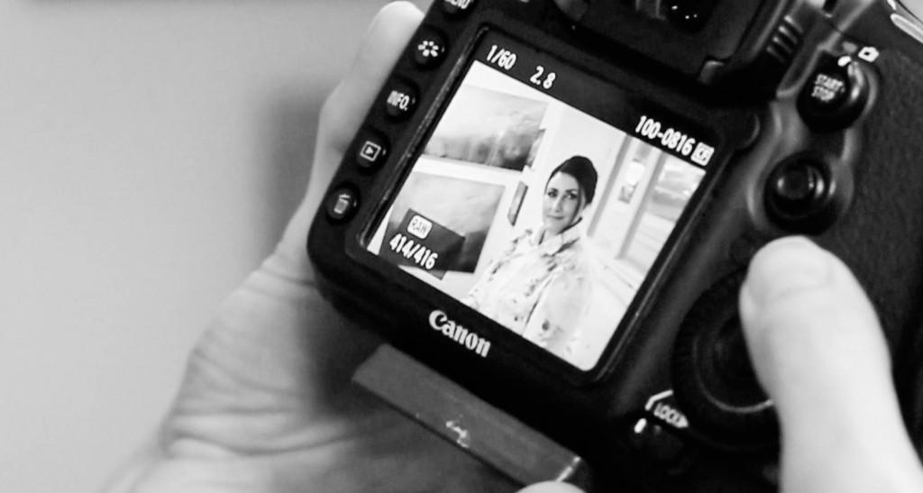 kameradisplay med portræt, Zenani
