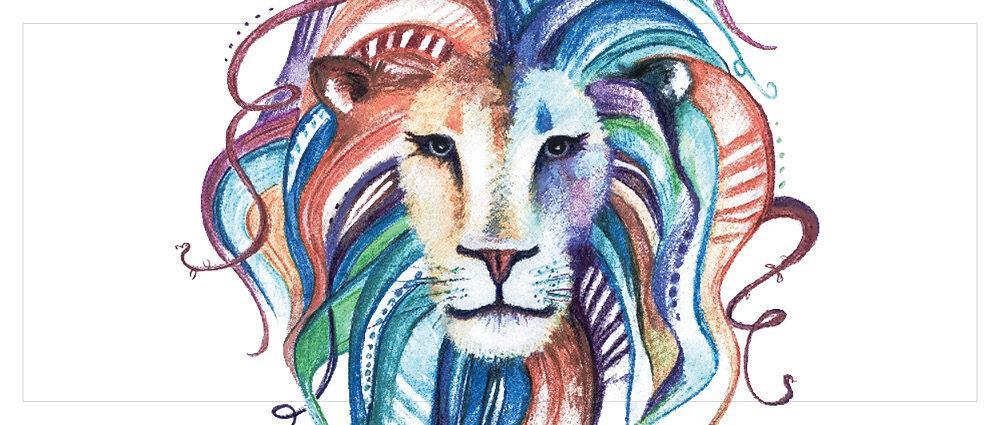Løve Banner - Find din indre løvinde HVID